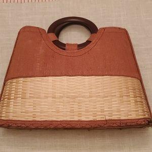 Woven Basket Handbag